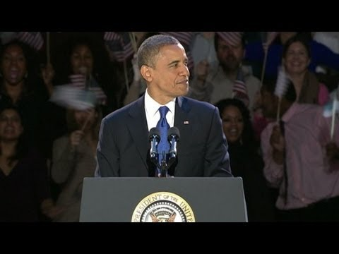 President Barack Obama Acceptance Speech 2012: Election Remarks From Chicago Illinois