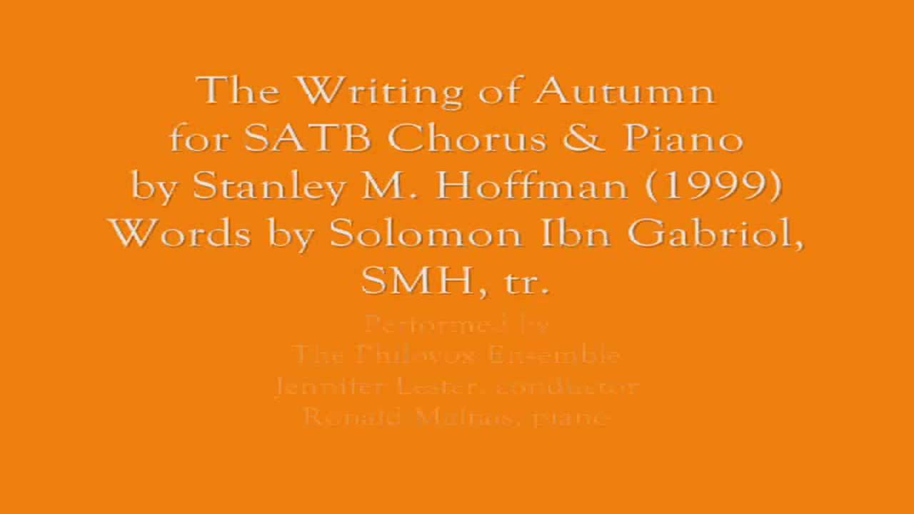Writing of Autumn