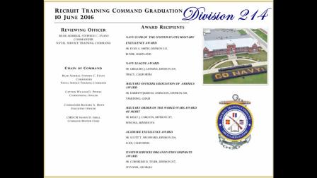 Division 214 Graduates June 10, 2016