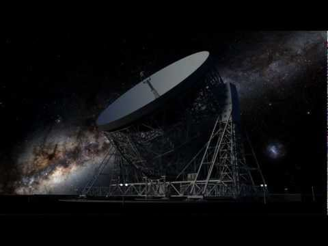 CGI Lovell Telescope at Jodrell Bank, with 3 different Skies