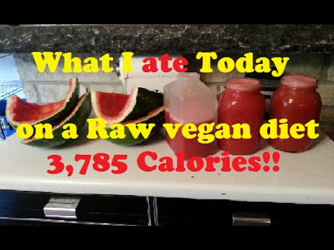 what I ate today on a raw vegan diet I 3,785 calories