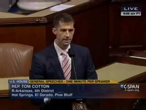 Rep. Tom Cotton speaks on the Obama Administration's counterterrorism efforts