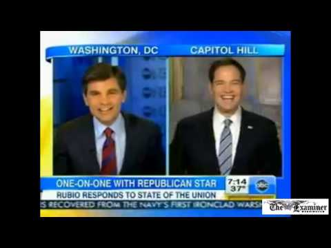 Marco Rubio jokes with Good Morning America about his water moment