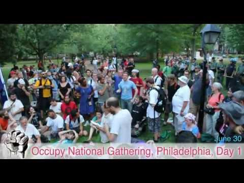 First Police Interaction & Group Decision - Occupy National Gathering Day 1