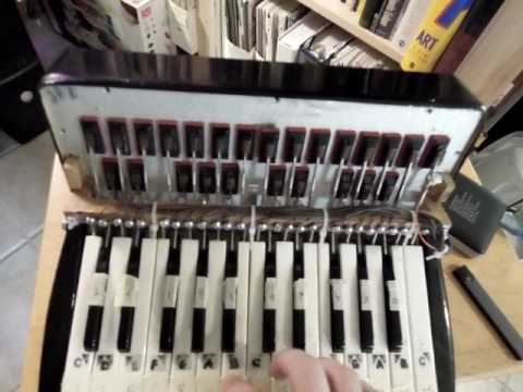 Arduino MIDI Accordion : Controlling a Digital Piano