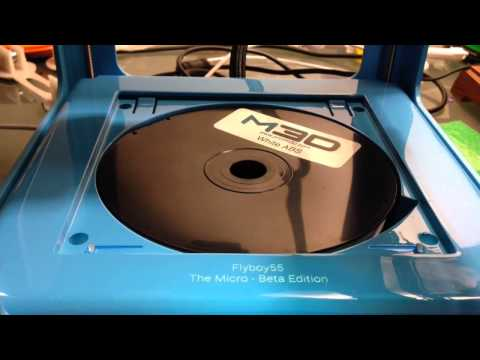 The Micro 3D printer beta M3D --  How to remove and replace the print bed.