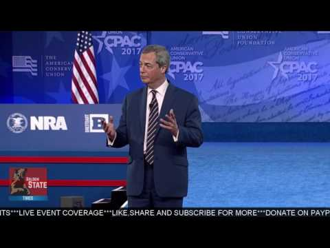 AMAZING: Nigel Farage Speaks at CPAC 2017