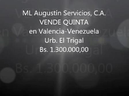 VENDO CASA - QUINTA 290 M2 EN VALENCIA VENEZUELA URBANIZACION TRIGAL