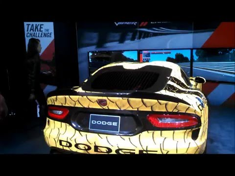 Dodge Viper Challenge simulator at the 2016 New York International Auto Show