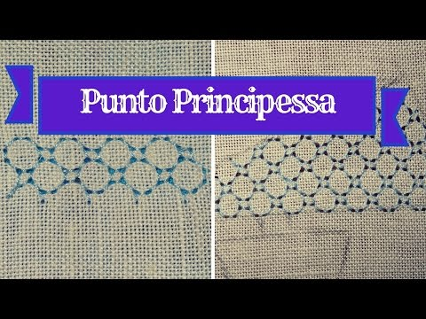 Embroidery - back stitch variation (punto principessa)