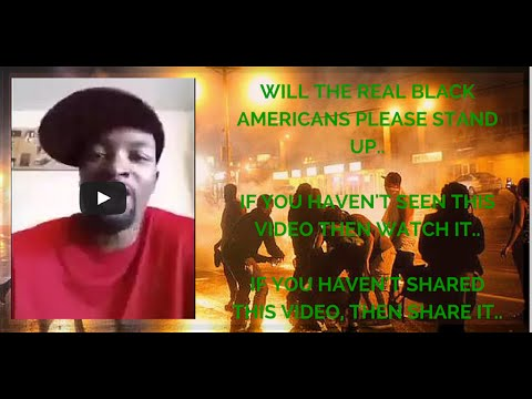 KEEPING IT REAL  Will the Real Black Americans Please stand up. By Charles R. Patrick  Furguson