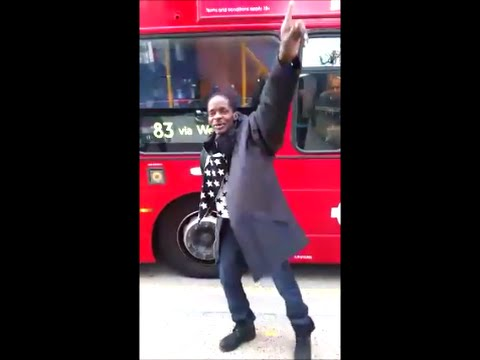 London Bus Driver Stop Bus For Gully Bop