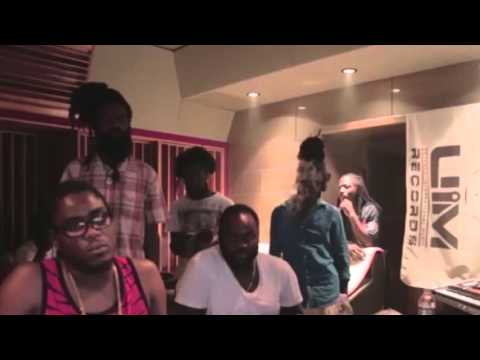 popcaan , sizzla , teflon , live in studio making new hits- new - march - 2016