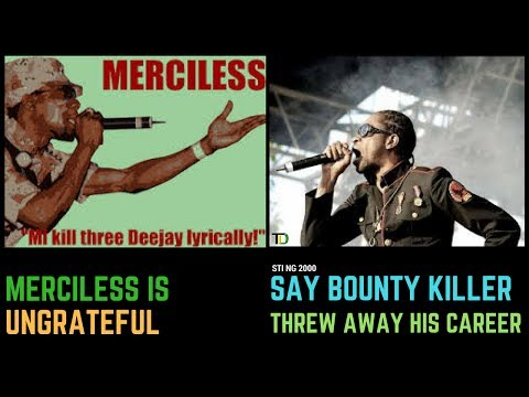 """Bounty Killer says Merciless Is """"UNGRATEFULl! Threw away His Career for One Sting Clash Hype in2000"""