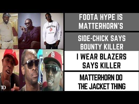 Bounty Killer says Foota Hype Is Tony Matterhorn's SIDE CHICK & he wears only BLAZERS no JACKETS