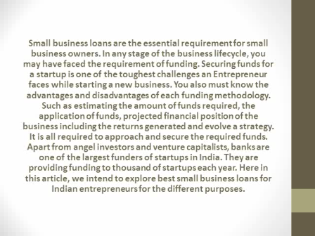 BEST SMALL BUSINESS LOANS IN INDIA FOR 2016 – BIG LIST