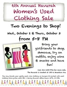 Women's Used Clothing Sale at the Havurah