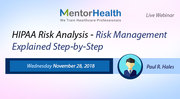 HIPAA Risk Analysis - Risk Management Explained Step-by-Step