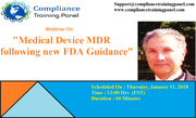 Medical Device MDR following new FDA Guidance