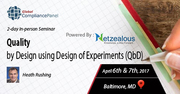 Quality by Design using Design of Experiments (QbD) 2017
