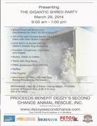 March 29 th Shred Event For the Rescues