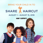 Hair Cuttery's Share-A-Haircut for Kids in Need Aug 1-15
