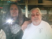 Dewy with (bass player ) Phil Stokes from pure prarie league 2-23-2014 Riverview florida