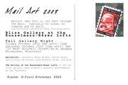 Mail Art Exhibition 2003