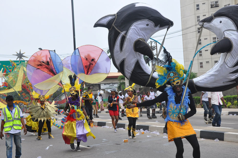 Lagos 2014 Carnival with Fashola and Minister of Tourism- 13