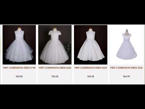 First Communion Dresses in various designs From Barongs R us
