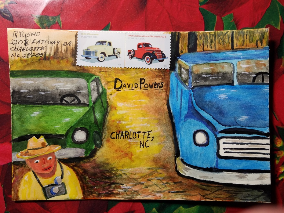 Painted Holiday Cards Sent - 2016