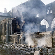 St Mary's Church, Hornsey, during demolition 1970