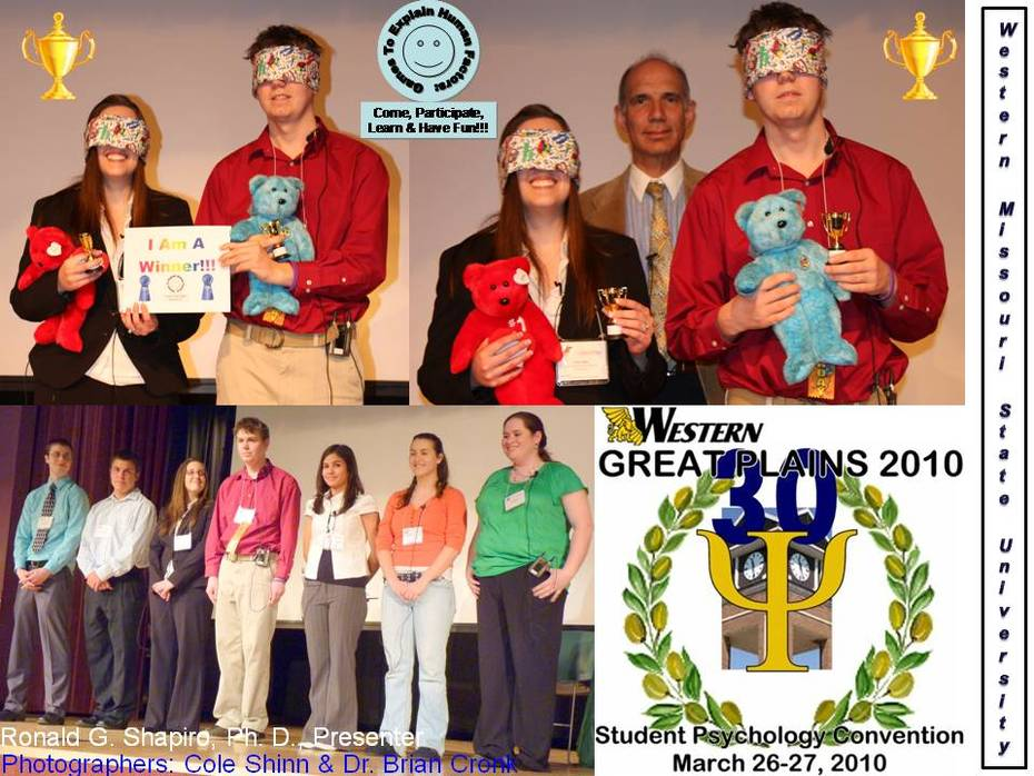 Games To Explain Human Factors Come, Participate, Learn & Have Fun Photo Album from program at Western Great Plains Students' Psychology Convention -- Missouri Western State University