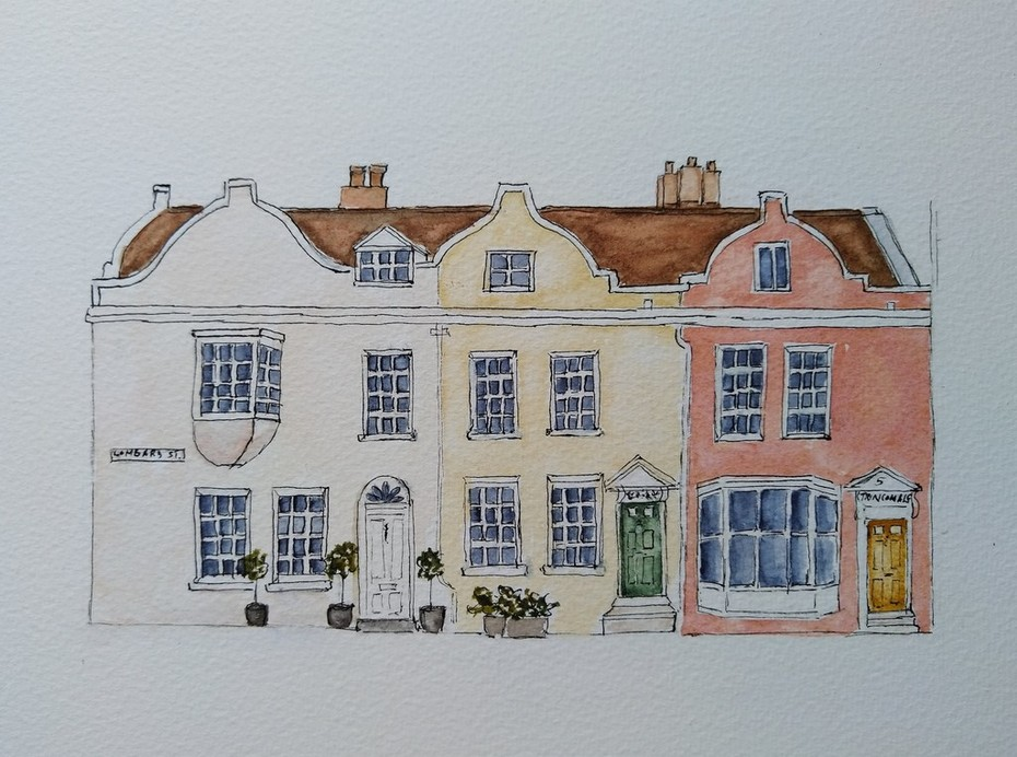 More historic 17c houses, Old Portsmouth