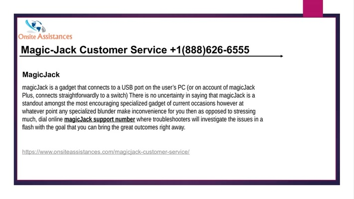 magicjack customer support +1(888)626-6555 magicjack support number
