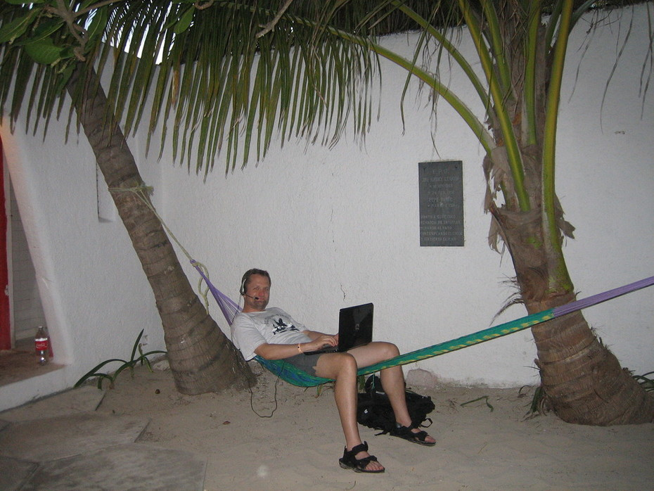 Hard at work on Isla Mujeres, Mexico
