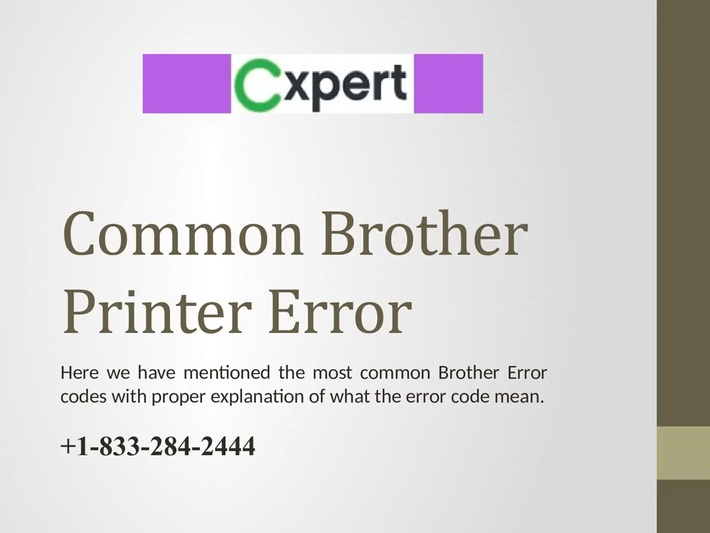 Brother Printer 1833 284 2444 Support USA