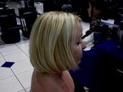 Side view of haircut