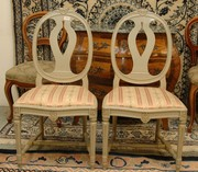 antique swedish Gustavian chairs roundback
