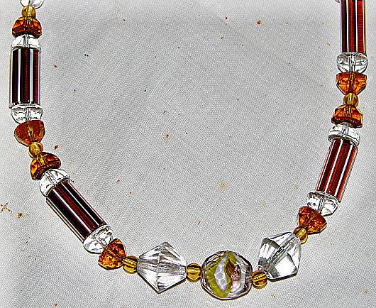 Necklace. Art Déco period. Detail