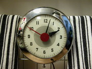 Sentinel Wafer chrome clock
