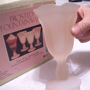 Pink Frosted Indiana Glass Fountainware