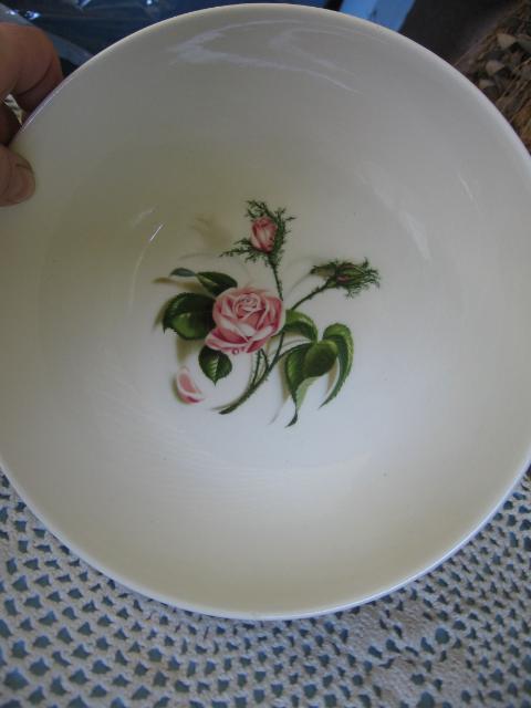 Vintage Ballerina Moss Rose Serving Bowl