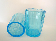 Vintage Depression Glass EAPG Tumbler Aqua Blue
