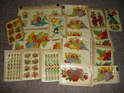 Vintage Duro Decals Fruits and Flowers