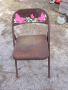 Folding chair with stencil..$12