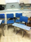 formica table extension and chairs