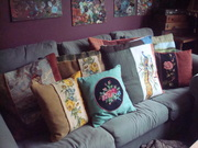 Pillows made from old Needlepoints