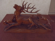 ANTIQUE ETCHED GLASSWEAR-WOOD CARVINGS 024