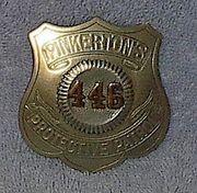 Vintage Pinkerton Badge